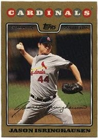 2008 Topps Gold Border Jason Isringhausen Baseball Card