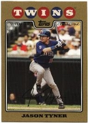 2008 Topps Gold Border Jason Tyner Baseball Card