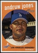 2008 Topps Heritage Andruw Jones Baseball Card