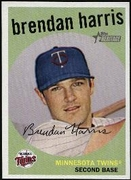 2008 Topps Heritage Black Back Brendan Harris Baseball Card
