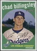2008 Topps Heritage Black Back Chad Billingsley Baseball Card