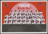 2008 Topps Heritage Black Back Chicago White Sox Team Baseball Card