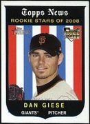 2008 Topps Heritage Black Back Dan Giese Baseball Card
