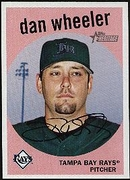 2008 Topps Heritage Black Back Dan Wheeler Baseball Card