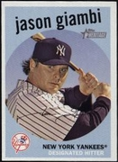 2008 Topps Heritage Black Back Jason Giambi Baseball Card
