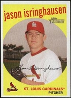 2008 Topps Heritage Black Back Jason Isringhausen Baseball Card