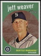 2008 Topps Heritage Black Back Jeff Weaver Baseball Card