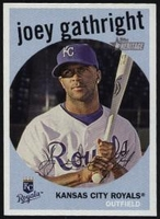 2008 Topps Heritage Black Back Joey Gathright Baseball Card