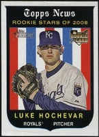 2008 Topps Heritage Black Back Luke Hochevar Baseball Card