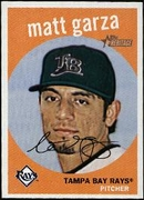 2008 Topps Heritage Black Back Matt Garza Baseball Card
