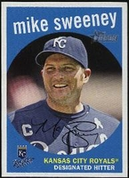 2008 Topps Heritage Black Back Mike Sweeney Baseball Card
