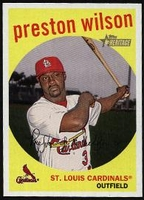 2008 Topps Heritage Black Back Preston Wilson Baseball Card