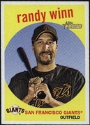 2008 Topps Heritage Black Back Randy Winn Baseball Card