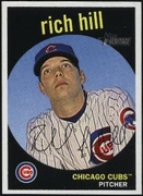 2008 Topps Heritage Black Back Rich Hill Baseball Card