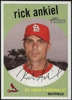 2008 Topps Heritage Black Back Rick Ankiel Baseball Card
