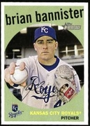 2008 Topps Heritage Brian Bannister Baseball Card