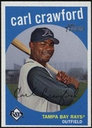 2008 Topps Heritage Carl Crawford Baseball Card