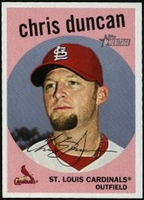 2008 Topps Heritage Chris Duncan Baseball Card