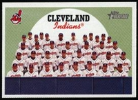 2008 Topps Heritage Cleveland Indians Team Baseball Card