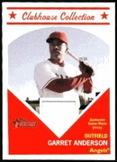 2008 Topps Heritage Clubhouse Collection Relics Garret Anderson Game-Worn Jersey Baseball Card