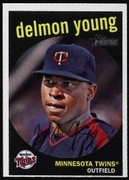 2008 Topps Heritage Delmon Young Baseball Card