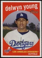 2008 Topps Heritage Delwyn Young Baseball Card