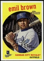 2008 Topps Heritage Emil Brown Baseball Card