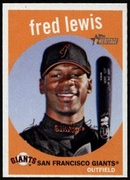 2008 Topps Heritage Fred Lewis Baseball Card