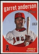 2008 Topps Heritage Garret Anderson Baseball Card