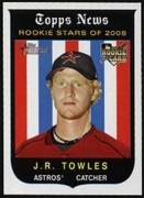 2008 Topps Heritage J.R. Towles Rookie Baseball Card