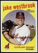 2008 Topps Heritage Jake Westbrook Baseball Card