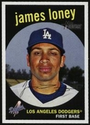 2008 Topps Heritage James Loney Baseball Card