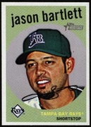 2008 Topps Heritage Jason Bartlett Baseball Card