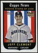 2008 Topps Heritage Jeff Clement Baseball Card