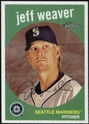 2008 Topps Heritage Jeff Weaver Baseball Card