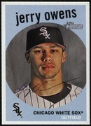2008 Topps Heritage Jerry Owens Baseball Card
