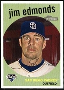 2008 Topps Heritage Jim Edmonds Baseball Card