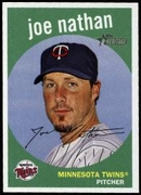 2008 Topps Heritage Joe Nathan Baseball Card