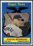2008 Topps Heritage Justin Morneau All-Star Baseball Card