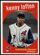 2008 Topps Heritage Kenny Lofton Baseball Card