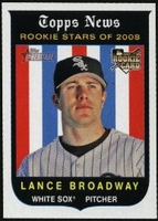 2008 Topps Heritage Lance Broadway Baseball Card
