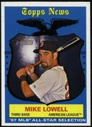 2008 Topps Heritage Mike Lowell  All-Star Baseball Card
