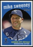 2008 Topps Heritage Mike Sweeney Baseball Card
