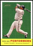 2008 Topps Heritage New Age Performers Prince Fielder Baseball Card
