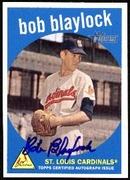 2008 Topps Heritage Real One Autographs Bob Blaylock Autographed Baseball Card