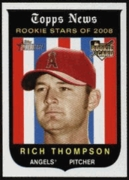 2008 Topps Heritage Rich Thompson Rookie Baseball Card