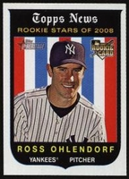 2008 Topps Heritage Ross Ohlendorf Rookie Baseball Card