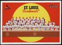 2008 Topps Heritage St. Louis Cardinals Team Baseball Card