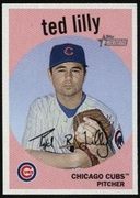 2008 Topps Heritage Ted Lilly Baseball Card