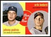 2008 Topps Heritage Then and Now Erik Bedard & Johnny Podres Baseball Card